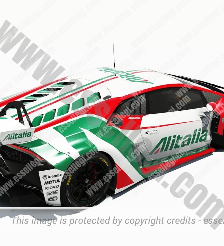 LAMBORGHINI HURACAN GT3 | ALITALIA TRIBUTE RACING CAR LIVERY