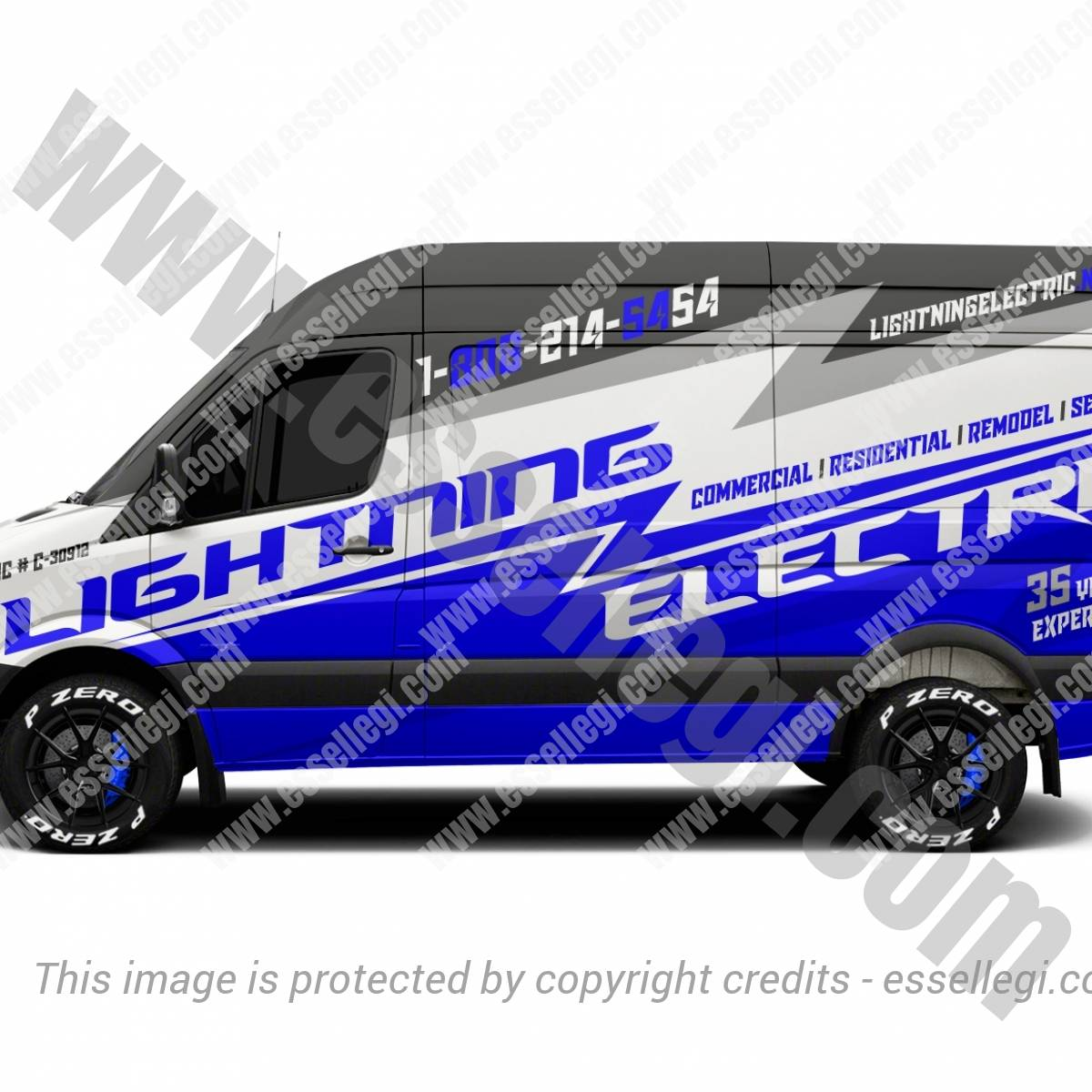 LIGHTNING | VAN WRAP DESIGN 🇺🇸