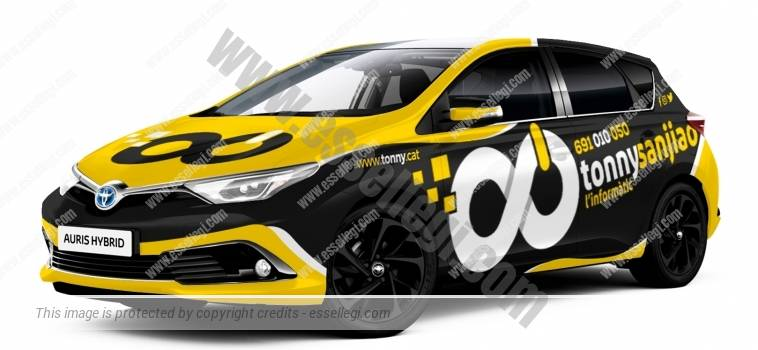TOYOTA AURIS | CAR WRAP DESIGN