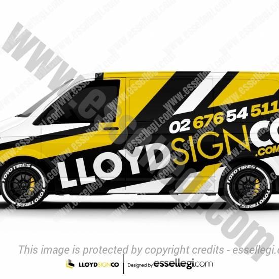 LLOYD SIGN CO.   VAN WRAP DESIGN 🇦🇺