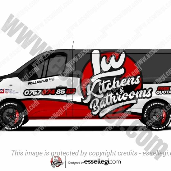 LW KITCHENS & BATHROOMS | VAN WRAP DESIGN 🇬🇧