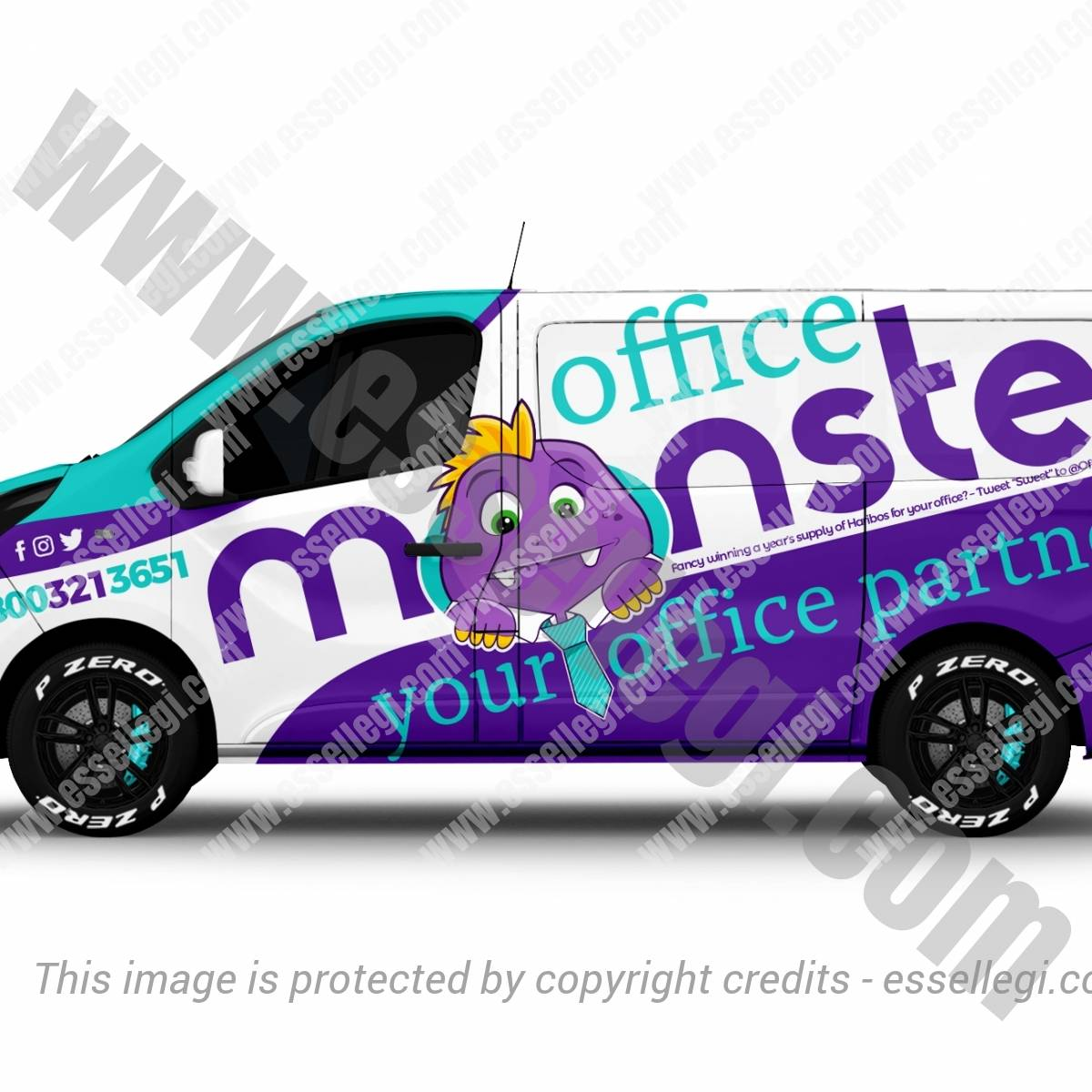 OFFICE MONSTER | VAN WRAP DESIGN 🇬🇧
