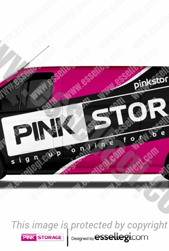 PINK STORAGE | VAN WRAP DESIGN 🇬🇧