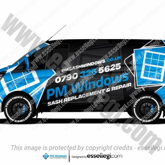 PM WINDOWS | VAN WRAP DESIGN 🇬🇧