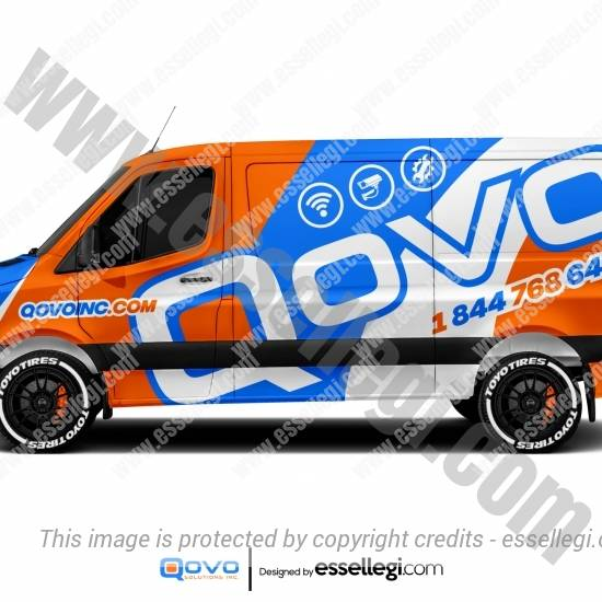 QOVO INC | VAN WRAP DESIGN 🇺🇸