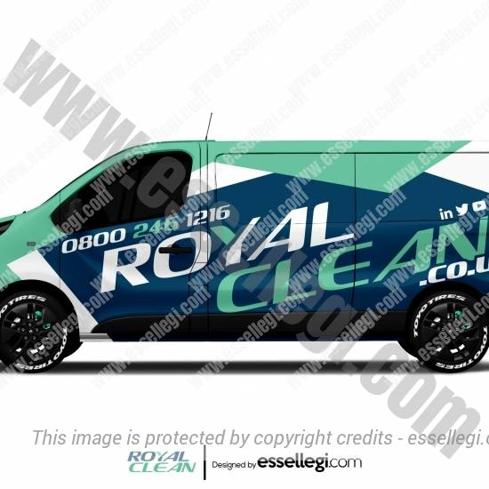 ROYAL CLEAN | VAN WRAP DESIGN 🇬🇧
