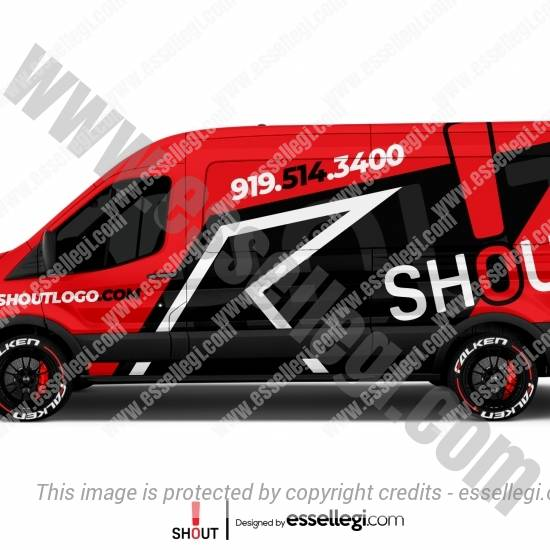 SHOUT LOGO | VAN WRAP DESIGN 🇺🇸