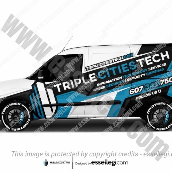 TRIPLE CITIES TECH | VAN WRAP DESIGN 🇺🇸