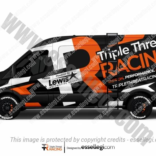 TRIPLE THREAT RACING | VAN WRAP DESIGN 🇺🇸