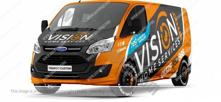 FORD TRANSIT CUSTOM LWB | VAN WRAP DESIGN