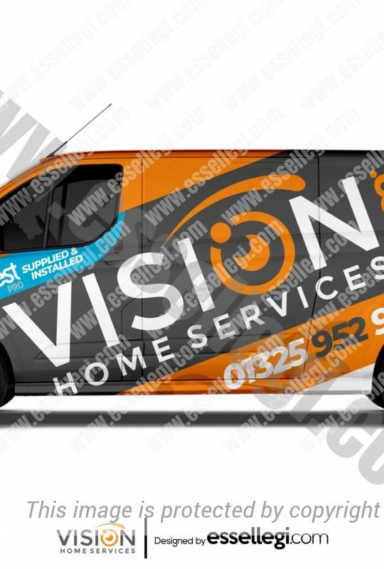 VISION HOME SERVICES | VAN WRAP DESIGN 🇬🇧
