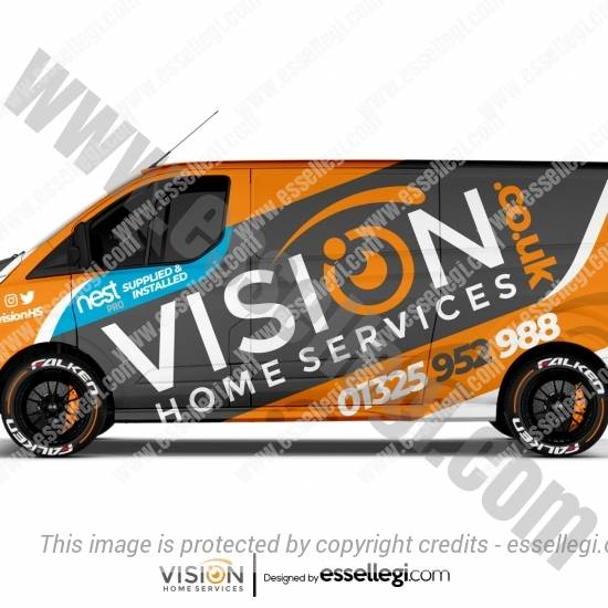 VISION HOME SERVICES | VAN WRAP DESIGN 🇬🇧