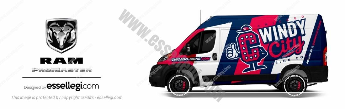 DODGE RAM PROMASTER | VAN WRAP DESIGN