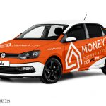 Volkswagen Polo Wrap Design. Volkswagen Polo | Car Wrap Design by Essellegi. Car Signs, Car Signage, Car Signwriting, Car Wrap Designer, Car Graphic, Custom Vehicle Signage, Car Wrap Design by Essellegi.
