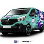 Renault Trafic Wrap Design. Renault Trafic | Van Wrap Design by Essellegi. Van Signs, Van Signage, Van Wrapping, Van Signwriting, Van Wrap Designer, Signs for Van, Van Logo, Van Graphic by Essellegi.