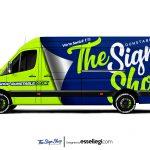 VW Crafter Wrap Design. VW Crafter Custom Wrap | Van Wrap Design by Essellegi. Van Signs, Van Signage, Van Wrapping, Van Signwriting, Van Wrap Designer, Signs for Van, Van Logo, Van Graphic by Essellegi.